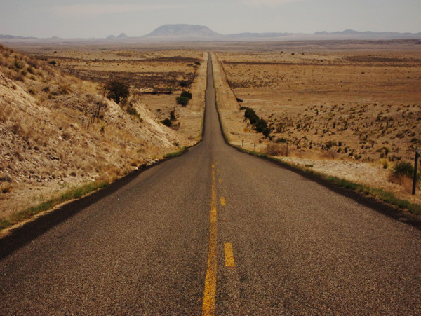 This road is featured in the movie 'No country For Old Men', but where does it end?
