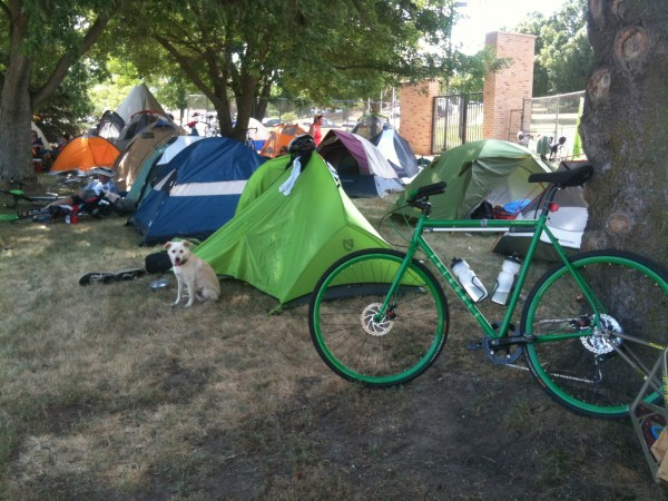 Green machine, Fairdale weekender and out trusty tent.