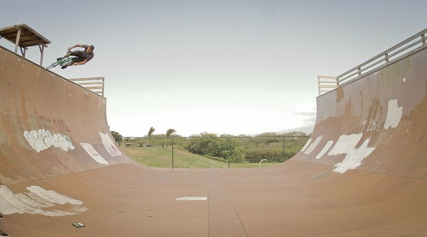 By no means is the Weekender designed to be ridden on vert ramps... but we think this photo of Ryan is pretty bad ass.