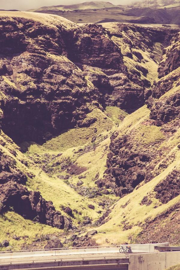 A bike, a bridge, and a hell of a canyon.