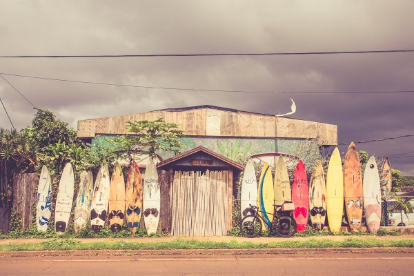 Paia town isn't board of surfing.