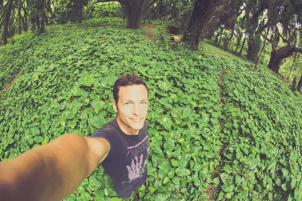 The awe inspiring forest near Honolua bay, and at a total of two, more selfies that I've taken in the last 10 years.