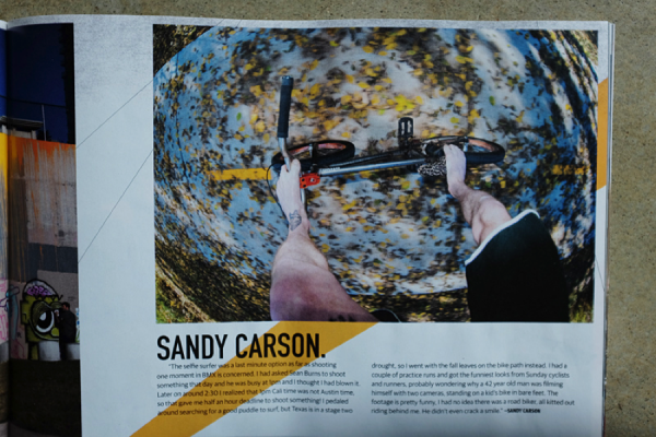 "Scored a selfie-surfer in the new Ride BMX article ""One Moment in BMX."""